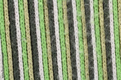 materiał dzianina szal zmechacony biały zielony brązowy szalik macro - 194075285