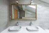 Interior of a luxury bathroom in loft apartment - 194083802