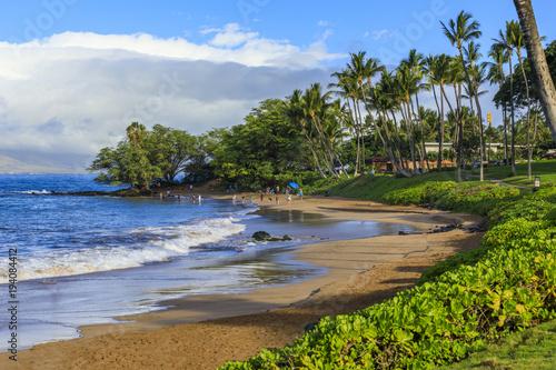 Deurstickers Tropical strand Wailea Beach near Kihei, Maui, Hawaii