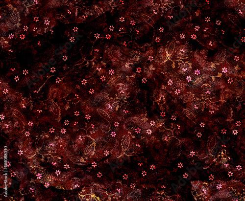 Paisley batik texture repeat modern pattern - 194088030