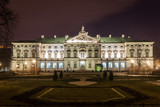 Baroque Krasinski Palace at night in Warsaw, Poland - 194090823