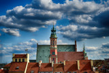 A view from above of the Warsaw old city and the surrounding buildings on a summer  day - 194097051