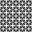 Black and white leaves trellis geometric seamless pattern, vector