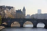 Le pont Neuf sur la Seine à Paris, France - 194104818