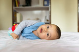 Eurasian baby on bed - 194114669
