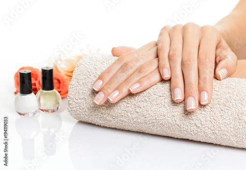 Plexiglas Manicure Manicure hands cocncept