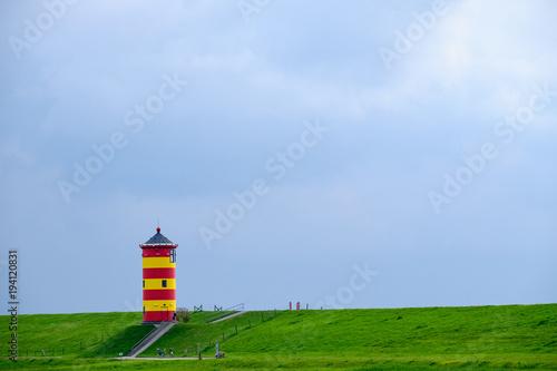Poster Noordzee Der Leuchtturm von Pilsum