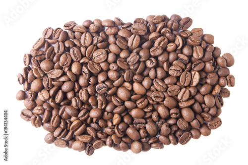 Papiers peints Café en grains A lot of dark brown coffee beans. White background