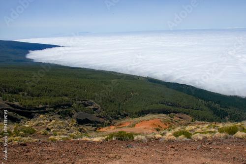 Papiers peints Bleu ciel Clouds on El Teide