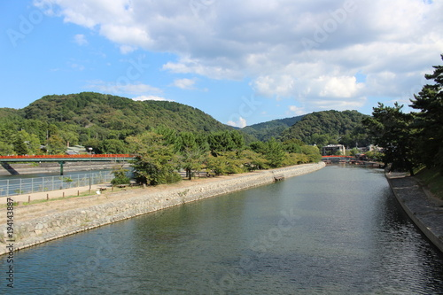 Fotobehang Khaki Uji River . Uji . Kyoto Perfection . Japan