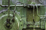 abstract image of industrial green ship engine - 194144837