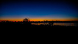 Sunset at Riverton Driveway overlook the Canning River, Perth, Australia