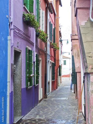 Wall Murals Narrow alley Enge Gasse in Italien