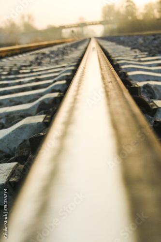 Fotobehang Spoorlijn Gleise