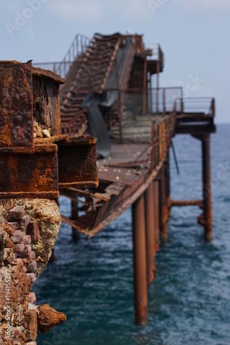 Fotobehang Schipbreuk Kohlefabrik Bergwerk