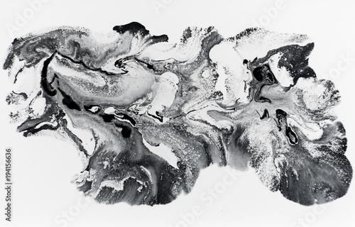 Marmurowy abstrakcjonistyczny akrylowy tło. Natura czarna marmurkowata grafiki tekstura. Złoty blask.