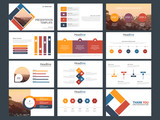 Colorful Abstract presentation templates, Infographic elements template flat design set for business proposal brochure flyer leaflet marketing advertising banner template