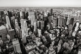 Aerial view of Midtown skyscrapers in Black & White, Cityscape, Manhattan, New York CIty - 194165024