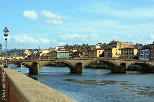 Fotobehang Florence Ponte alla Carraia in Florence - Italy.