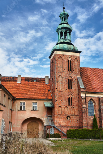 Gothic monastery church with belfry in Gniezno. - 194170027