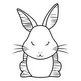 Cute Rabbit Icon  Wall Sticker