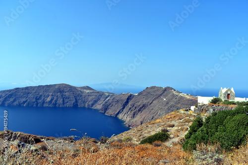 In de dag Santorini Santorini Bay, Greece