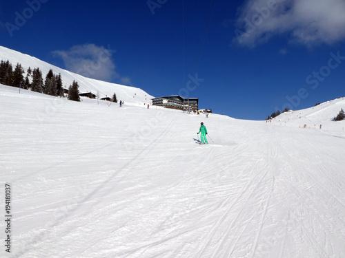 Canvas Wintersporten Skifahren in Saalbach Hinterglemm Leogang