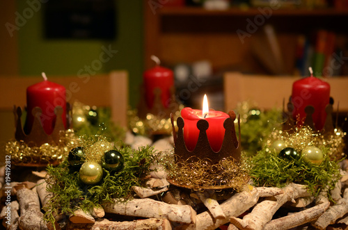 Leinwandbild Motiv 3. Advent