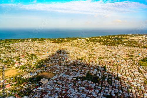Staande foto Zanzibar Aerial photography of Stone Town in Zanzibar, Tanzania.
