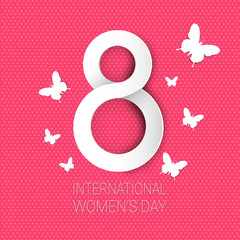 International Women Day Background 8 March Holiday Greeting Card Vector Illustration