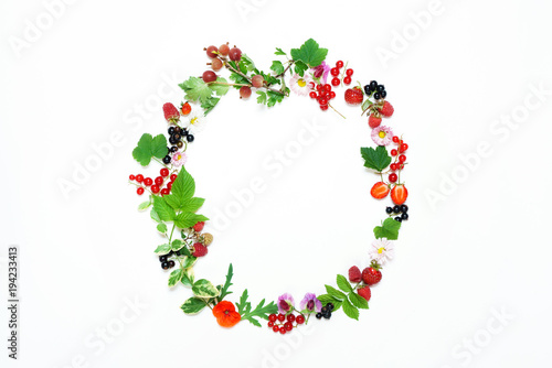 Staande foto Klaprozen summer concept with berries
