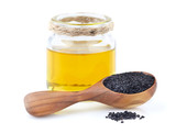 Black cumin oil with seeds - 194235486