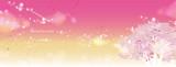 桜の木 ピンク 文字入り