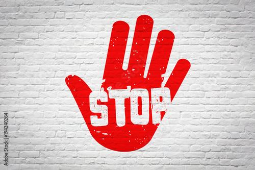 Leinwandbild Motiv Stop