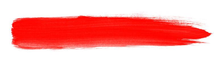 Pinselstreifen mit roter Farbe