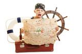 Kind Als Pirat Verkleidet Mit Schatzkarte Wall Sticker