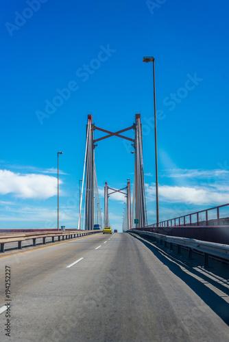Foto op Canvas Buenos Aires Zarate Brazo Largo Bridge, Entre Rios, Argentina