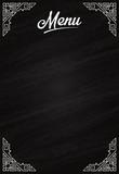 Menu de restaurant ou mariage sur tableau noir - ardoise - 194252818