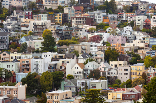 Houses on Twin Peaks Neighborhood, San Francisco, California, USA