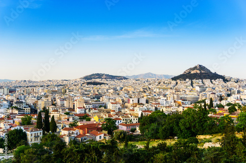Tuinposter Athene view of Buildings around Athens city, Greece