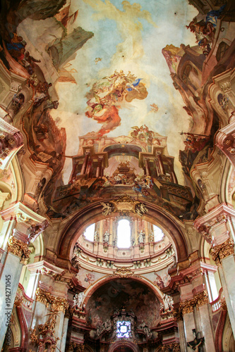 Foto op Aluminium Praag saint Nicholas church