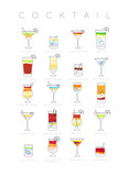 Poster cocktails flat - 194274699
