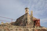 San Felipe de Barajas fortress. Castle is on a hill overlooking the Cartagena de Indias city in Colombia