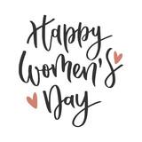 Womens day hand written inscription - 194275829
