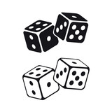 Dice cubes on white background. Vector illustration. - 194278812
