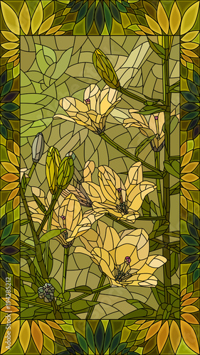 vector-illustration-flowers-of-yellow-lilies
