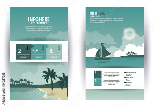 Beach and travel brochure infographic vector illustration graphic design - 194287255