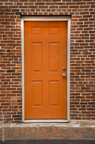 Door Of A Typical New England Residential House