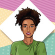 Fashion woman pop art cartoon vector illustration graphic design