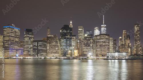 Foto op Aluminium New York Manhattan skyline at night, New York City, USA